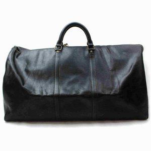 Louis Vuitton Black Ep Leather Noir Keepall 60